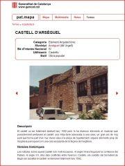 Arsèguel - Informació de la pàgina web Pat.mapa - Generalitat de Catalunya
