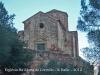 Església de Santa Maria de Cervelló - Vistes de l\'església des del lloc on estan situades les tombes antropomòrfes - 1