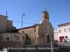 Església vella de Sant Pere - Alfarràs - El filat que es veu al davant, en primer terme de la fotografia, és el que ens separa del Canal de Pinyana.