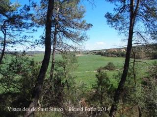 Vistes des de l'Església vella de Sant Simeó de Centelles – Rajadell