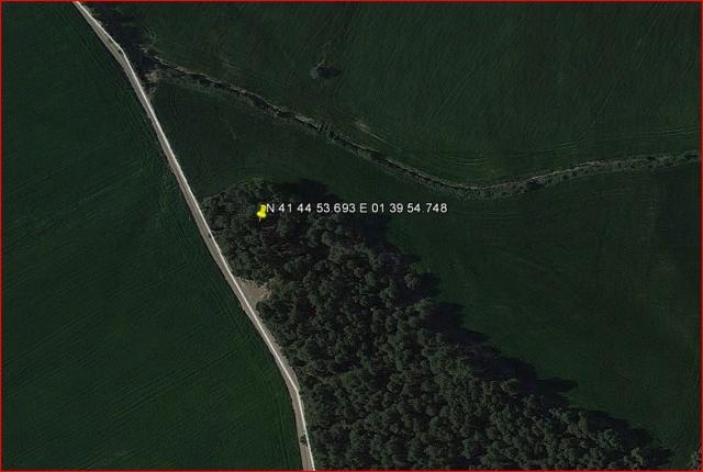 Camí d'accés a l'Església vella de Sant Simeó de Centelles – Rajadell - Ruta - Detall de la part final - Captura de pantalla de Google Maps, complementada amb anotacions manuals.