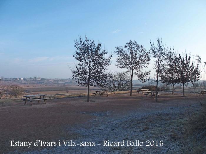 Estany d'Ivars i Vila-sana – Ivars d'Urgell i Vila-sana - Al terra, una mica entapissat de blanc ... és el que sembla: hi ha gebrada, com correspon en aquesta època de l'any.