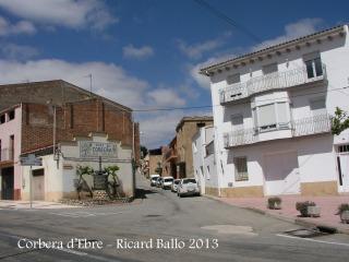 Fort fuseller de Ferriols - Inici itinerari - Corbera d'Ebre, carrer Sant Isidre.