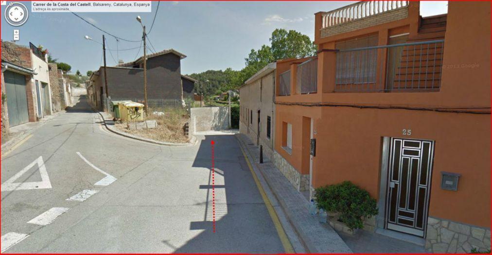 Fortí de La Torreta – Balsareny - Captura de pantalla de Google Maps
