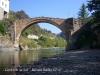 Gerri de la Sal. La Noguera Pallaresa Pont romànic.