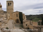 Guimerà - Església de Santa Maria vista des del castell.