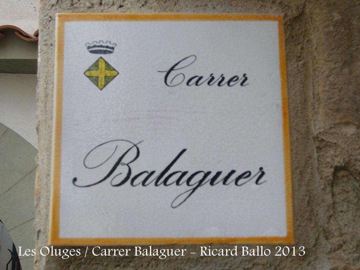 Les Oluges - Carrer Balaguer.