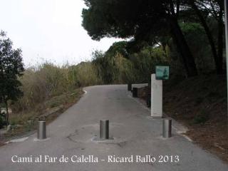 Camí al far de Calella