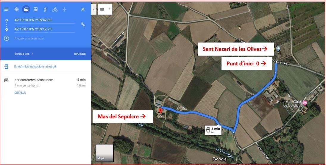 Mas del Sepulcre i St Nazari-Google Maps