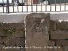 Església de Santa Maria de l'Estany: Làpida sepulcral