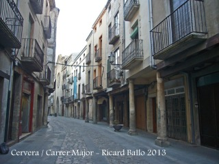 Cervera - carrer Major.