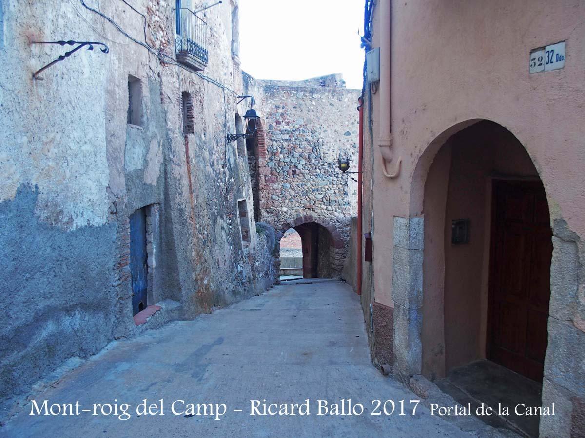 Muralles de Mont-roig del Camp-Portal de la Canal