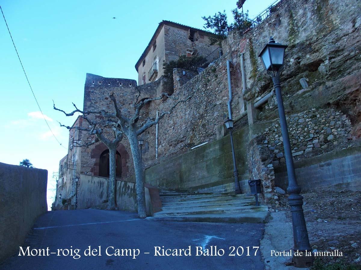 Muralles de Mont-roig del Camp-Portal de la muralla