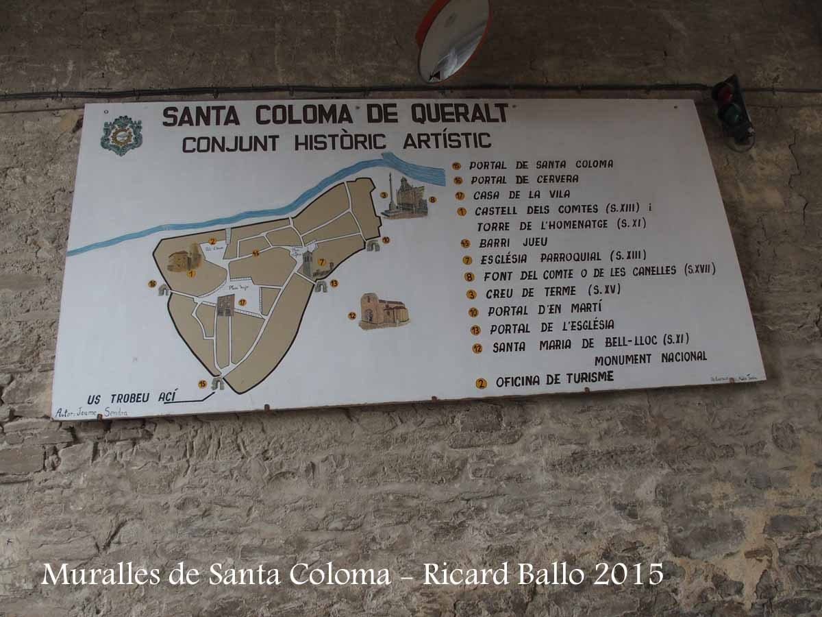 Muralles de Santa Coloma de Queralt – Santa Coloma de Queralt - Plafó informatiu