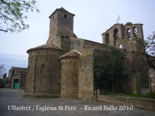 Ullastret: Església de Sant Pere. Part posterior.