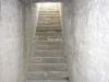 Castillo de Tiebas / NAVARRA - Escalera de acceso a una cámara subterrànea.