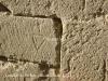 Castillo de Tiebas / NAVARRA - La señal en la piedra permitia identificar el trabajo de cada maestro cantero.