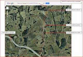 Itinerari a la Pleta de les Pallargues - Captura de pantalla de Google Maps, complementada amb anotacions manuals.