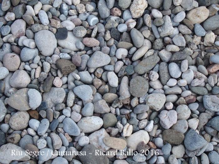 Llit de pedres del riu Segre al seu pas per Camarasa
