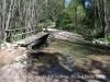 Pontet de fusta situat a la vora del Pont de la Noguerola – Viladrau