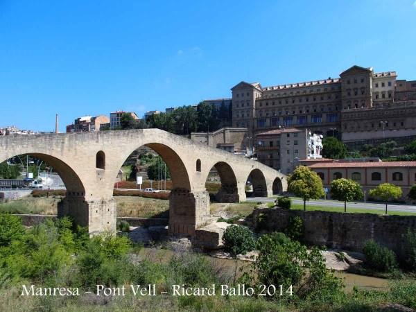 Manresa - Pont Vell - Al fons, la Cova de Sant Ignaci.