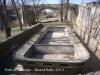 Pont de Sanaüja - En primer terme, els safaretjos públics.