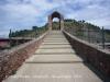 Pont del Diable - Martorell. Pujant des de Martorell al vessant de Castellbisbal. Al fons a mà dreta s\'intueix la Torre Fossada.