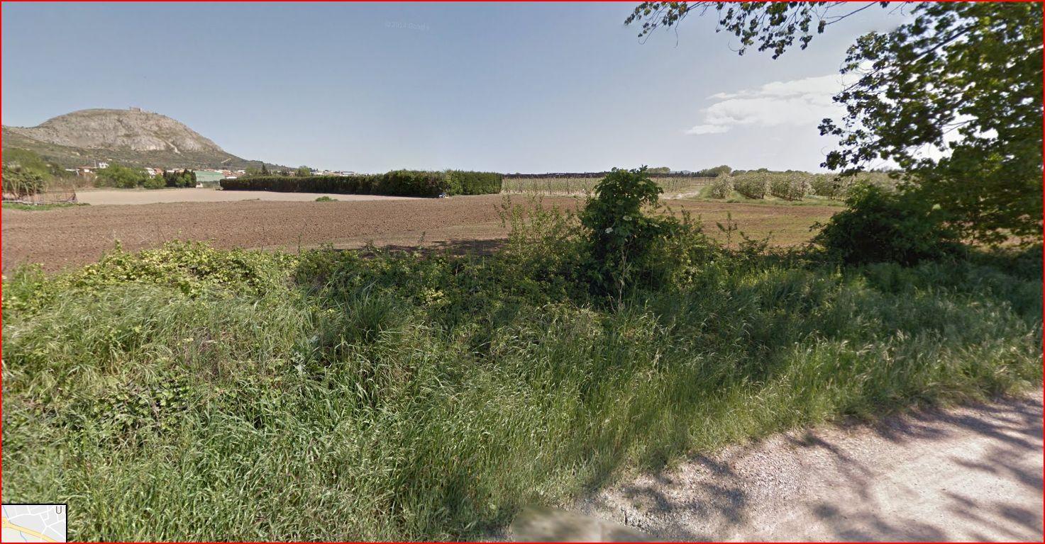 Restes de la Canònica de Santa Maria d'Ullà – Ullà - Captura de pantalla de Google Street view