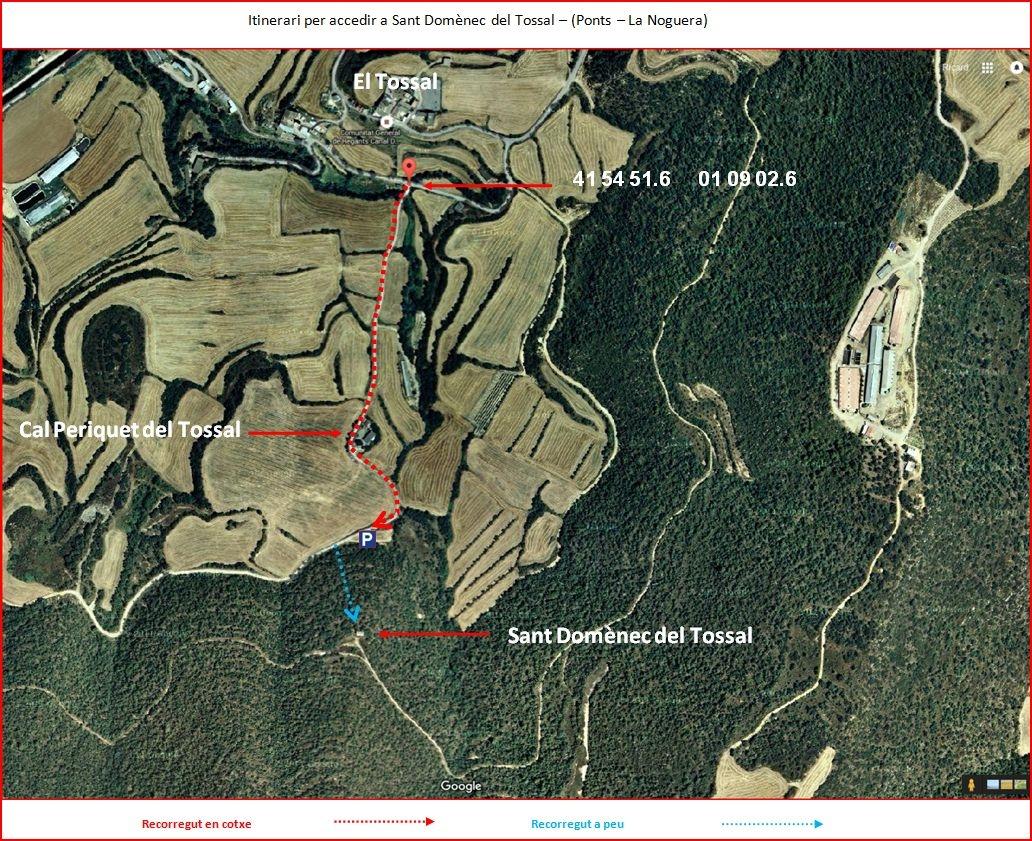 Sant Domènec del Tossal–Ponts - Itinerari Opció 2