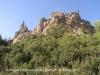 Sant Miquel del castell de Queralt – Bellprat - A l\'esquerra de la fotografia, Sant Miquel. A la dreta, restes del castell de Queralt.