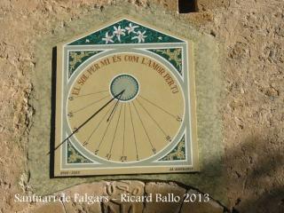 Santuari de Falgars - La Pobla de Lillet - Rellotge de sol.