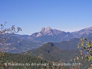 Visió del Pedraforca des del mirador del roc de la Lluna - La Pobla de Lillet.
