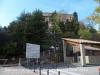 Santuari de Queralt - Berga - A la dreta, en primer terme,  l'estació base del funicular.