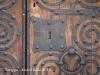 Tàrrega 2015 - Carer del Carme - Porta d\'entrada del Palau dels Marquesos de la Floresta - Detall