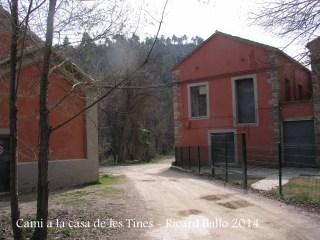 Sant Benet de Bages - Lloc d'inici del camí a les Tines de la casa de les tines – Talamanca