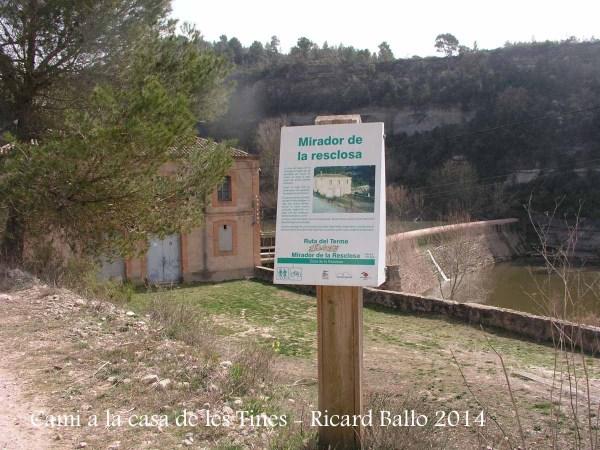 Camí a les Tines de la casa de les tines - Talamanca / Mirador de la resclosa