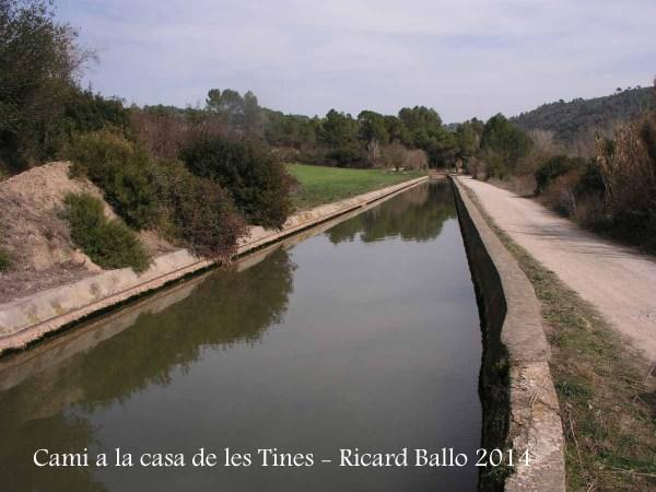 Camí a les Tines de la casa de les tines - Talamanca / Canal