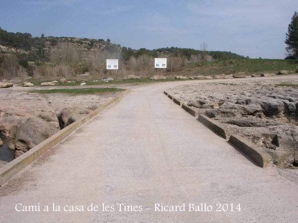 Camí a les Tines de la casa de les tines - Talamanca / Pas inundable