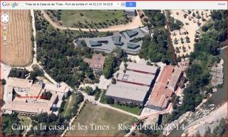 Camí a les Tines de la casa de les tines - Talamanca / Itinerari inicial - Captura de pantalla de Google Maps, complementada amb anotacions manuals
