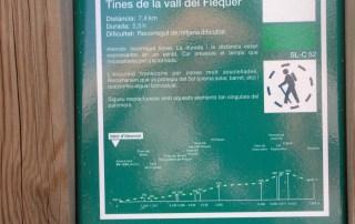 Plafó informatiu - Tines del camí del Flequer - Detall.