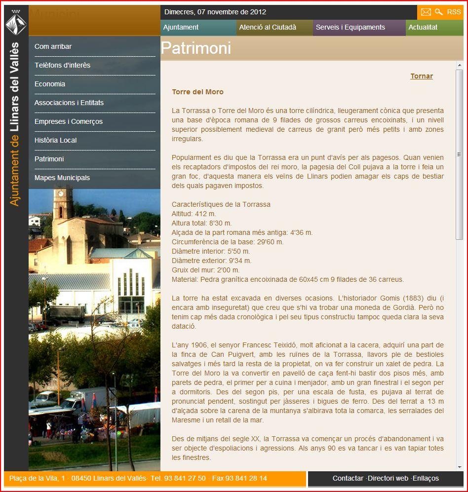 Torrassa del moro/Llinars del Vallès-Informacions complementàries.