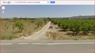 Torre d'Algorfa - Itinerari - Captura de pantalla de Google Maps.