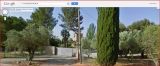 Torre de ca n'Ustrell - Des de la carretera de Sabadell a Matadepera. Captura de pantalla de Google Maps.