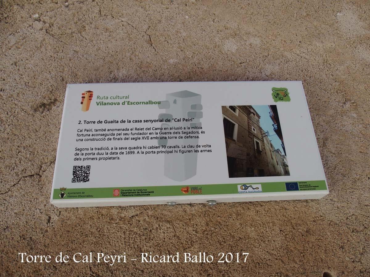 Torre de Cal Peyrí – Vilanova d'Escornalbou