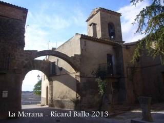 Torrefeta i Florejacs - Portal - A la dreta, església de Sant Esteve de la Morana.