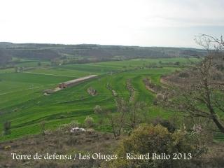 Vistes des de la Torre de defensa de les Oluges.