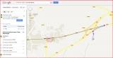 Torre de Mejanell - Itinerari - Captura de pantalla de Google Maps, complementada amb anotacions manuals.