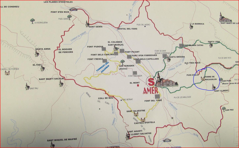 Torre de Rocasalva - Mapa de situació.
