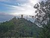 Vista del castell de Blanes, des de la Torre de Santa Bàrbara.