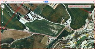 Torre de Talavera - Itinerari - Captura de pantalla de Google Maps, complementada amb anotacions manuals.